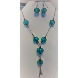 Set náhrdelník a náušnice z vinutých perlí A1084C
