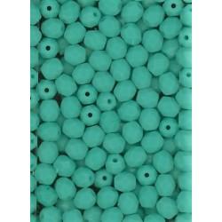 Broušené korálky 5 mm 63120 tyrkys bal. 100 ks