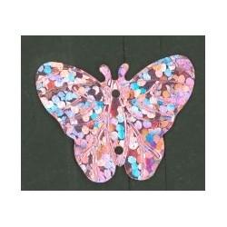 Flitry - růžový laser motýlek 10387-192  motýlek 5 g