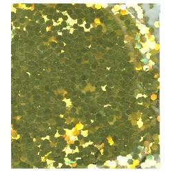 Glitr jasně žluté zlato 2 mm A0228