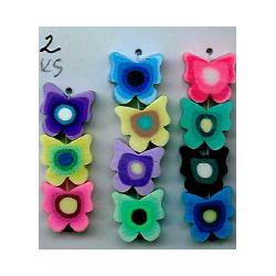 Polymeroví motýlci, MIX barev, L2362 černý