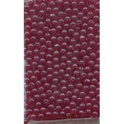Korálky mačkané 70ks Z111-19-001 4mm tm. červené