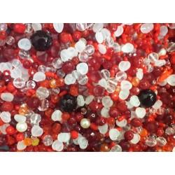 Mix korálků v krabičce L1111 červená