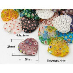 MILLEFIORI - lampa (vinutá perle)L3300 SRDCE-jednodírové
