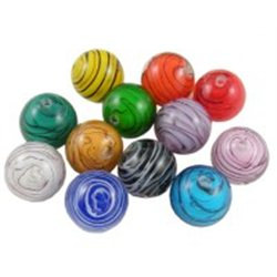 KULIČKA - skleněný korálek L0087 - (vinutá perle)