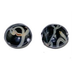 LENTILKA - skleněný korálek L0077 - LAMPA (vinutá perle)