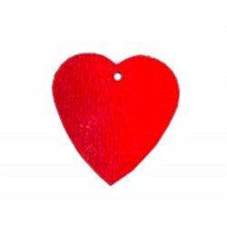 Flitry - srdíčko červené s dírkou 7844C-020