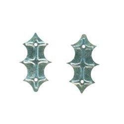 SLEVA 15% Flitry - stříbrný lístek cesmíny 11x25mm 328-124