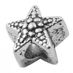 Kovový korálek L0003, 2ks hvězda