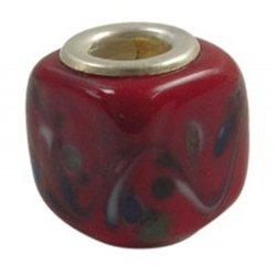 Červený korálek L0213 - KOSTKA