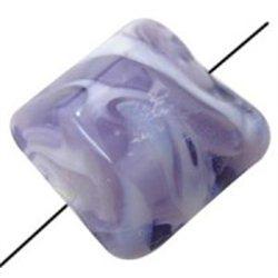 Korálek skleněný, čtverec L0320 - LAMPA (vinutá perle)