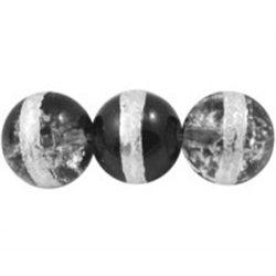 skleněný korálek L0401 - mačkanice - KULATÝ    bal. 10 ks