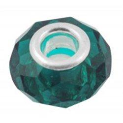 Zelený broušený korálek L0417