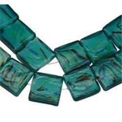 Korálek skleněný, čtverec  L0451 - LAMPA (vinutá perle)