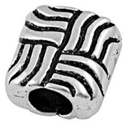ČTVEREC - kovový korálek  L0513