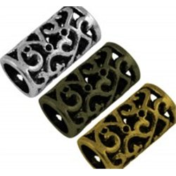 kovový korálek L0519 - VÁLEČEK antické zlato C