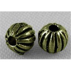Korálek kovový 6 ks L0593