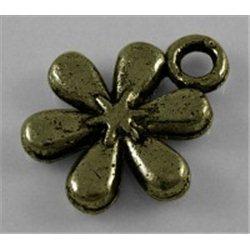 Přívěsek kovový, kytička L0594