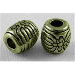 Korálek kovový, soudek L0599, 10 ks.