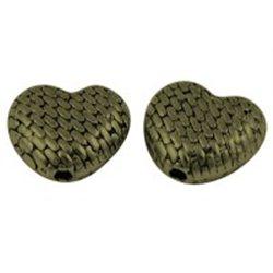 SRDÍČKO - kovový korálek L0605
