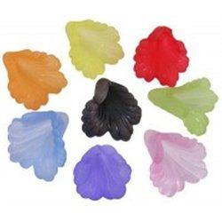 Korálek plastový, květina, různé barvy L0733