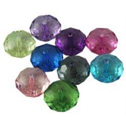 Korálky plastové, různé barvy L0738 (bal. 2 ks)