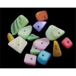 Korálky z perleťoviny, mix barev L0750  (bal. 10 g)