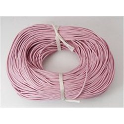 Provázek kožený, růžový  L3339