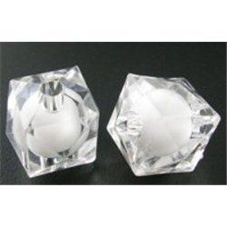 KOSTKA - korálek plastový L0822