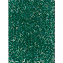 M.C. rondelky 3x5 mm, barva 50730 - emerald,  bal. 1 grs (144 ks)