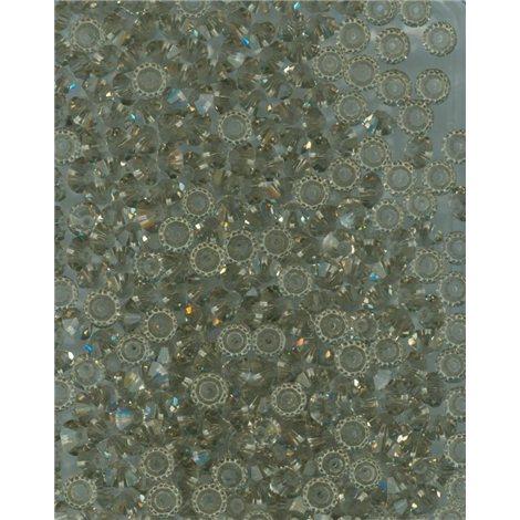 M.C. rondelky 3x5 mm, barva 40010 - black diamond (šedá),  bal. 1 grs (144 ks)