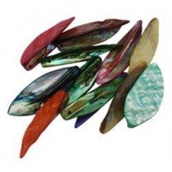 Korálky z perleťoviny, mix barev L0845
