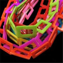 Korálky z perleťoviny, obdélník, mix barev L0873