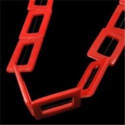 Korálek z perleťoviny, obdélník červený L0874