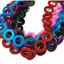 Korálky z perleťoviny, kroužek mix barev L0877