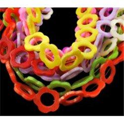 Korálky z perleťoviny květina, mix barev 4ks L0880