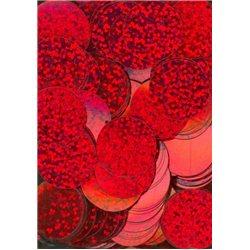červené flitry 20 mm (2 cm) 6771-163 bal. 3 g (cca 40ks)