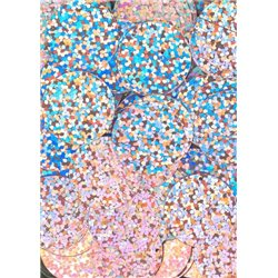 růžové flitry 20 mm (2 cm) 6771-192 bal. 3 g (cca 40ks)