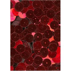 červené flitry 10 mm rovné 6753-020 bal. 3 g (cca160ks)