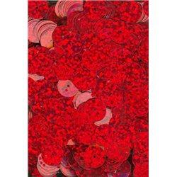 červené flitry 10 mm (1 cm) rovné 6755-163 bal. 3 g (cca160ks)