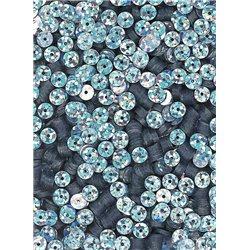 stříbrné flitry 5 mm (0,5cm) rovné 6682-177 bal. 1.000 ks (5g)
