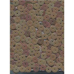 béžové flitry 5 mm (0,5 cm) rovné 6680-199 bal. 1.000 ks (5g)