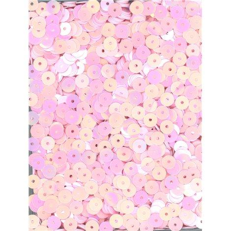růžové flitry 5mm rovné (tmavší) 6680-190T bal. 5 g