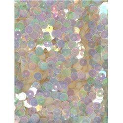 růžové flitry 5 mm (0,5 cm) rovné 6680-867 bal. 1.000 ks (5g)