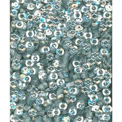 stříbrné flitry 5 mm (0,5 cm) miska 6674-124 bal. 1.000 ks (5g)