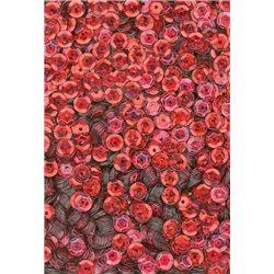 červené flitry 5 mm (0,5 cm) miska 6677-163 bal. 1.000 ks (5g)