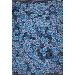 modré flitry 5 mm (0,5 cm) miska 6677-204 bal. 1.000 ks (5g)