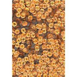 oranžové flitry 5 mm (0,5 cm) miska 6677-205 bal. 1.000 ks (5g)