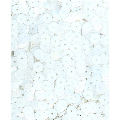 bílé flitry 6 mm rovné 6709-019 bal. 3 g (cca375ks)