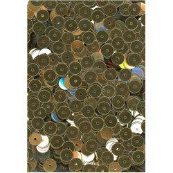 zlaté flitry 6 mm rovné 6699-196 bal. 3 g (cca375ks)